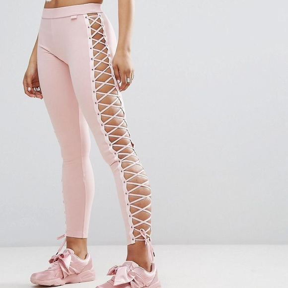 2faf1566d4bc03 Fenty puma lace up leggings